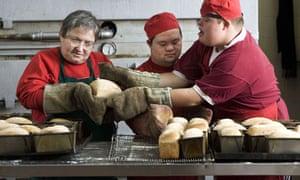 Garvald bakery employees Stephanie Goldberger, Chak-Hong Fung and Nathan Reid