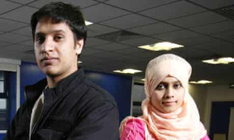 Hafizullah Nikben and Aklima Begum. A project that helps young people from ethnic minorities get into the financial sector. Tower Hamlets College