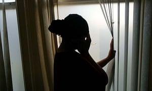 A victim of domestic violence