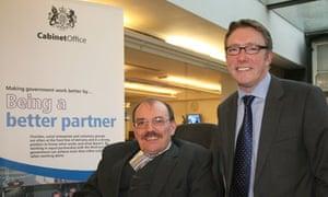 Sir Bert Massie and Phil Hope