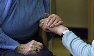 Elderly care worker