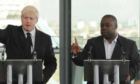 Boris Johnson and Ray Lewis at a City Hall press conference