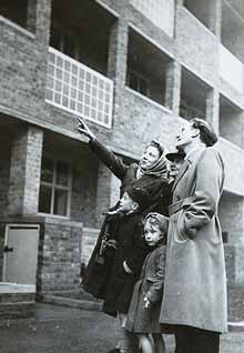 The Lansbury Estate in Tower Hamlets, east London, the 1951 Festival of Britain showpiece housing estate