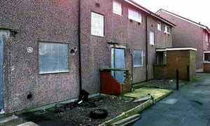 Empty council housing stock in Salford