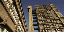 West London's Trellick Tower contains 217 flats and was originally entirely owned by the Greater London Council. Most of the flats are still social housing