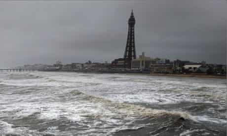 Stormy day in Blackpool