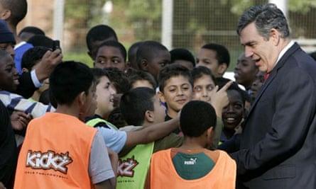 Gordon Brown visits a Kickz project in north London