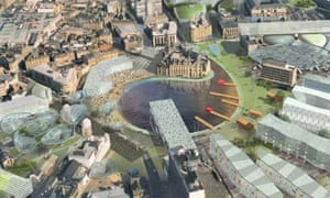 Masterplan created by architect Will Alsop for the development of Bradford