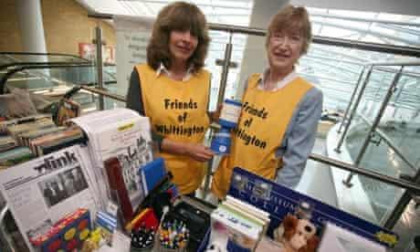 Volunteers at the Whittington hospital, London