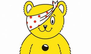 Pudsey bear, Children in Need. Photograph: BBC