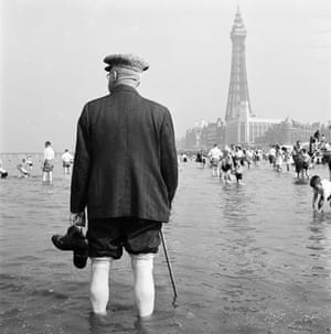 Gallery John Gay retrospective: Man paddling on Blackpool beach