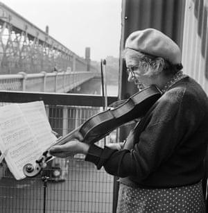 Gallery John Gay retrospective: Busker on Hungerford Bridge