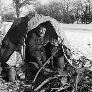 Gallery John Gay retrospective: Man shelters in makeshift tent