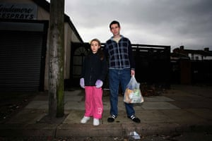 Gallery Inequality in Liverpool: Father and daughter