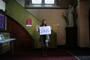 Gallery Inequality in Liverpool: Homeless woman in Catholic church