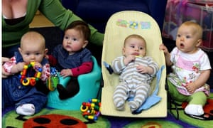 A mother and babies in the Sure Start group at the Carousel centre in Braintree, Essex