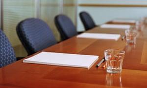 Conference table, boardroom