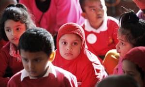 Children at the Starbank Primary School Birmingham.