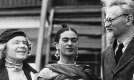 Leon Trotsky with Frida Kahlo