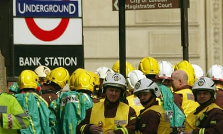 Terror exercise in London Underground station