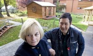 Lisa Burnard with Sam at St Mungo's Cedars Road hostel