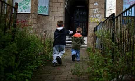 Children in Glasgow living in poverty