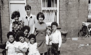 A 1960s snapshot of members of the mixed-race Polack family in Birmingham