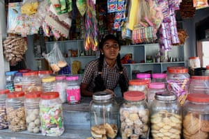 The Young Lives project: Girl on a market stall in India