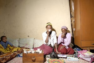 The Young Lives project: Girls drinking tea in Ethiopia