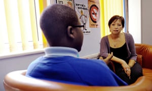 Counsellor Sew Lan Ooi with a pupil at Kidbrooke School in south London