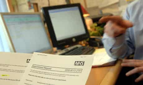 Booking an appointment in GP surgery