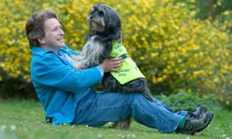 Marion Janner and assistance dog Buddy