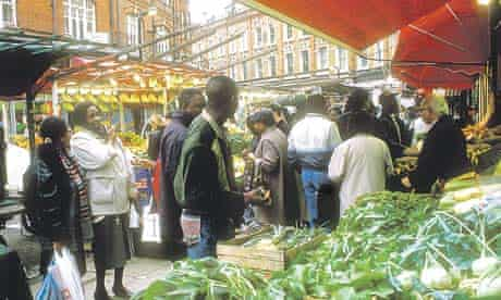 Fruit and vegetable market in Brixton, London