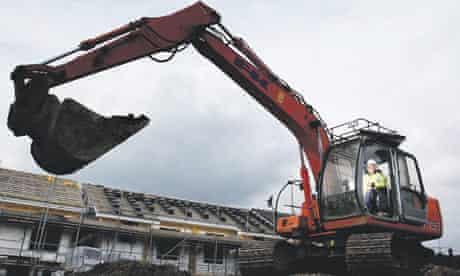 Construction work on a social housing scheme in Brinnington, Stockport.