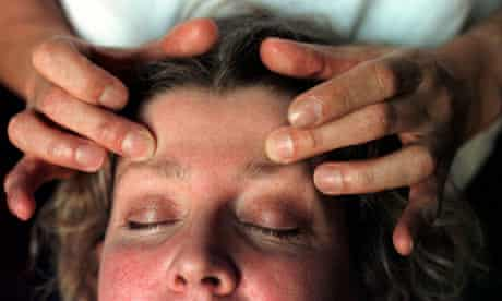 EX HEAD TEACHER TURNED STRESS THERAPIST BILL DOVE AT WORK.