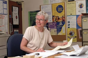 Citizens Advice at 70: A specialist Citizens Advice case worker checking through client documents