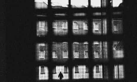 View through the bars of a prison cell window, Wandsworth Prison
