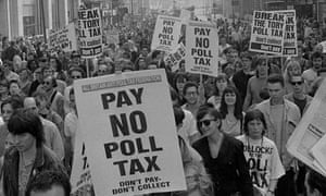 Poll tax protesters 1990