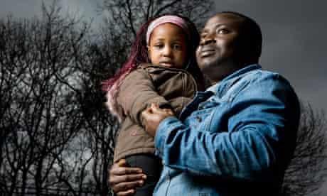 Asylum Seekers Akokpe Kangnisoukpe and his 3 year old daughter Rose