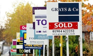 House prices - for sale signs