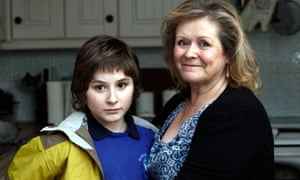 Alison Hope and her son James, 13, who has autism