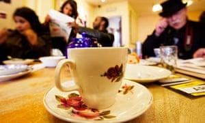 Inhabit pop-up tea room, Birmingham