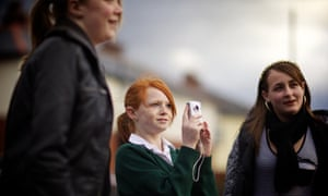 Callon Young Reporters (left to right) Kirsty Worthington, Megan Anderson and Natasha Giovannelli