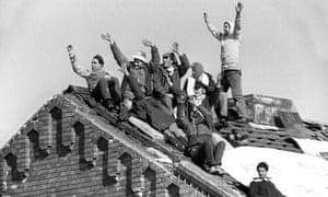 Rioters at Strangeways prison