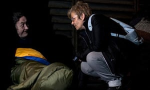Broadway's Liz Blackender chats with a rough sleeper