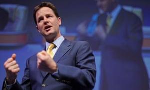 Nick Clegg addresses the Royal College of Nursing conference
