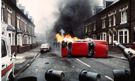 Rioting in the Handsworth Lozells area of Birmingham in 1985