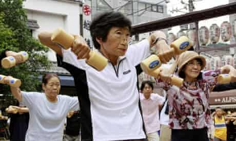 Older people celebrate Japan's Respect for the Aged Day