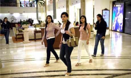 Shoppers in New Delhi