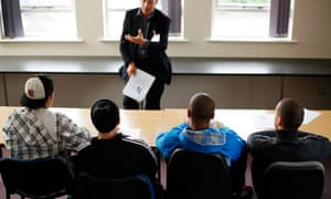 Young people with learning disabilities attend a course to prevent offending